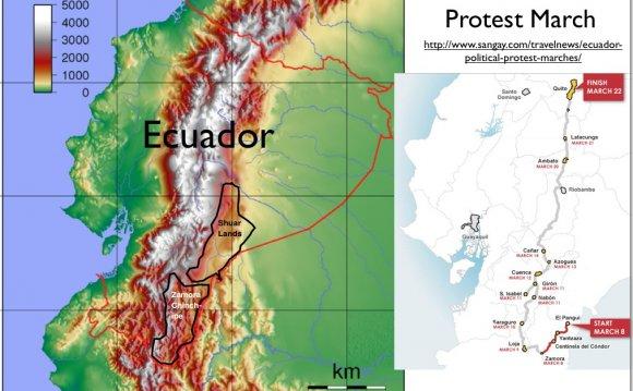 Economy ecuador map
