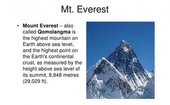 Highest mountain on Earth