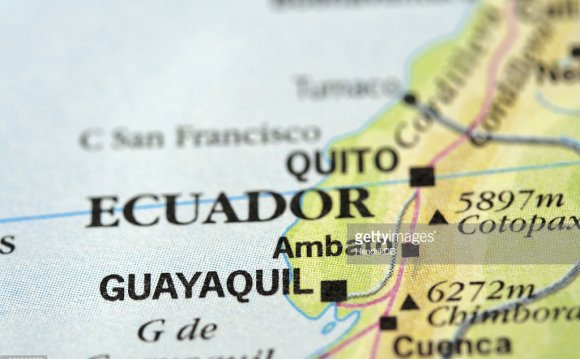 Ecuador on a Map
