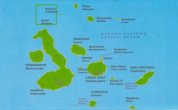 Where is Galapagos Islands on a map?