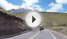 More cycling in Ecuador with Chimborazo Volcano in the