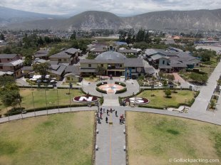 View from atop the Mitad del Mundo monument